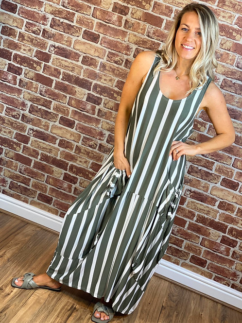 Stretch Stripe Dress