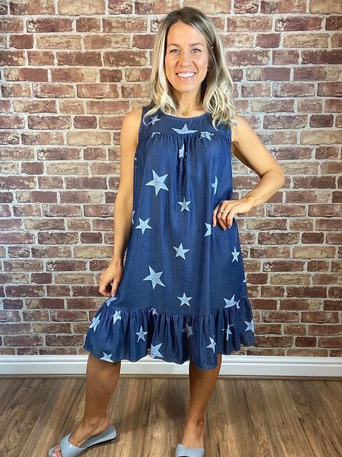 Starry Denim Dress