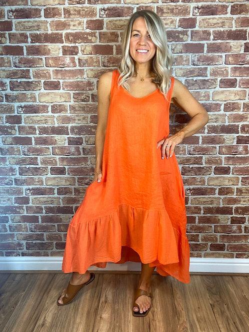 Linen Colour Dress