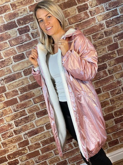 Reflective Fur lined Coat/Jacket