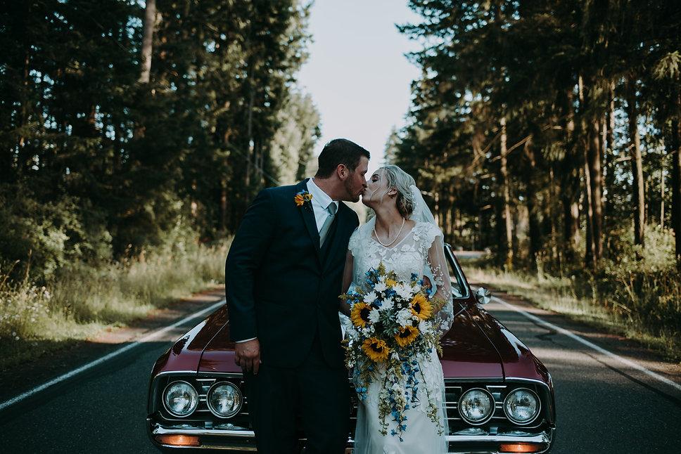 Bride and Groom Oldmobile Wedding
