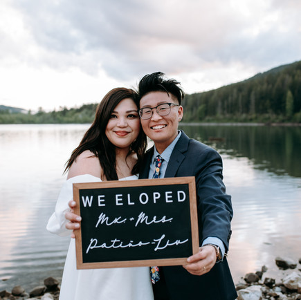 GORGEOUS INTIMATE ELOPEMENT AT RATTLENAKE LAKE   CARRIE & DOVI