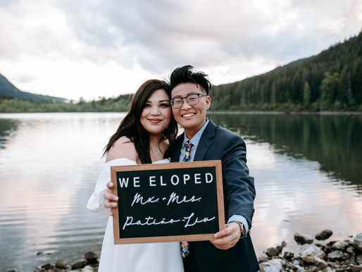 GORGEOUS INTIMATE ELOPEMENT AT RATTLENAKE LAKE | CARRIE & DOVI
