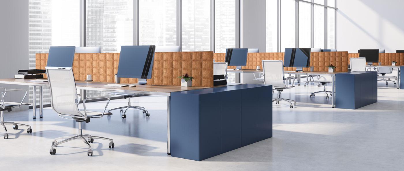 Cork panels office