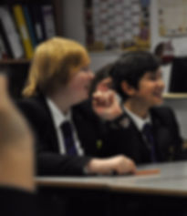 Students in an RE lesson