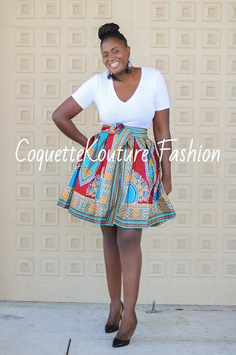 Dora Burgundy Midi Skirt