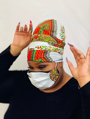 White Dashi Headwrap Set