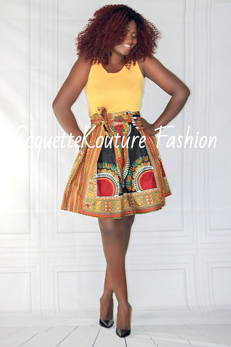 Dora Black Midi Skirt