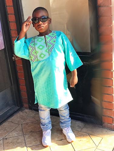 Caro green boy shirt
