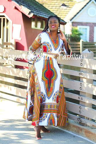 Jasmine African Print Maxi Dress