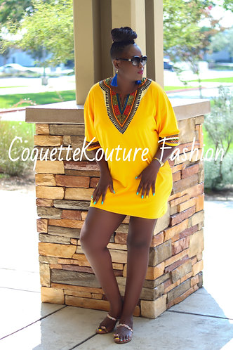 Yellow Unisex Dashiki T-Shirt