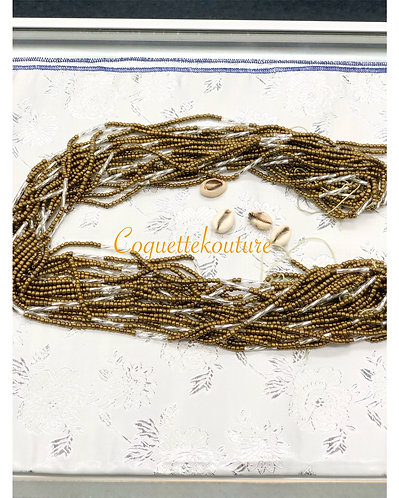 Rustic Gold Waist Bead