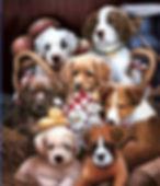 Puppies 3D lenticular poster wall art de