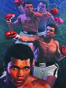Mohammad Ali 3D lenticular poster wall a