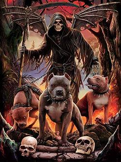 Pit Bull Reaper 3D lenticular poster wal
