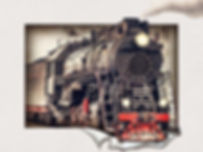 5D Train 3D lenticular poster wall art d