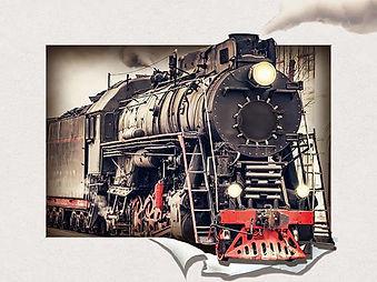 5D Train 3D lenticular poster wall art d