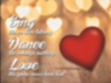 Love Red Heart 3D lenticular poster wall