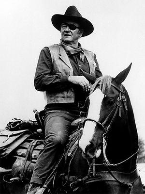 John Wayne on horse 3D lenticular poster