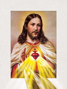 5D Sacred Heart Jesus 3D lenticular post