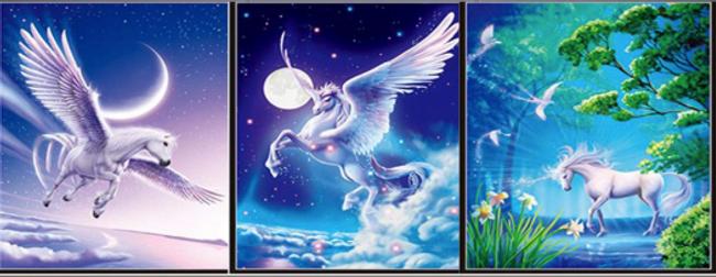 3D Flip Unicorns _ Pegasus 3D lenticular