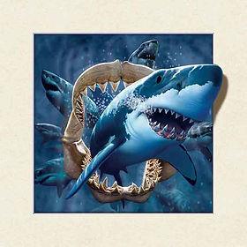 5D Shark 3D lenticular poster wall art d