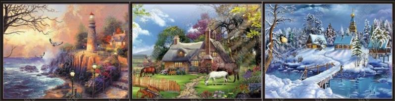 Cottages 3D Lenticular poster wall art d