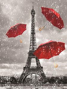 Eiffel Tower 3D lenticular poster wall a