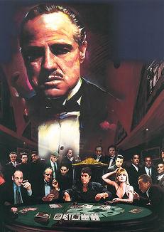 Mob Bosses 3D lenticular poster wall art