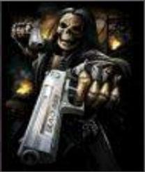 3D Flip Skull Gun 3D lenticular poster w