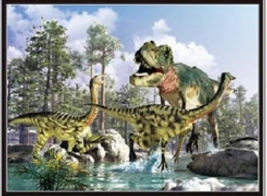 3D Flip Dino Changing 3D lenticular post