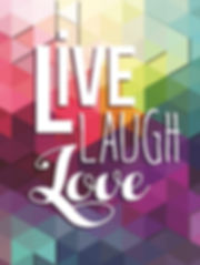 Live Love Laugh 3D lenticular poster wal