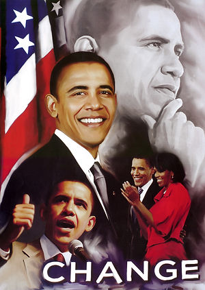 Obama 3D lenticular poster wall art deco