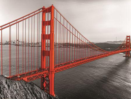 Golden Gate Bridge 20x24 Horizonta 3D Le