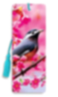 Bird Cherry Blossom 3D Bookmark.jpg