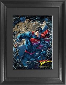 Superman Framed 3d lenticular poster wal