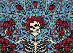 Greatful Dead (Skull w. Rose) 3D lenticu