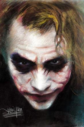Joker 3D lenticular poster wall art deco