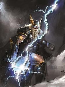 Thor Lighting Bolt 3D lenticular poster