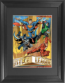 Justice League 3D lenticular poster wall