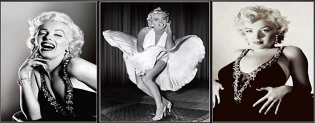 3D Flip Marilyn Monroe Black & White 3D