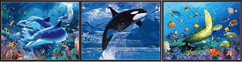 3D Flip Sea World 3D lenticular poster w