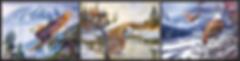 3D Flip Eagles 3D lenticular poster wall