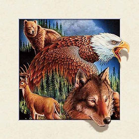 5D Animal Collage 3D lenticular poster w