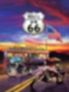 Route 66 3D lenticular poster wall art d