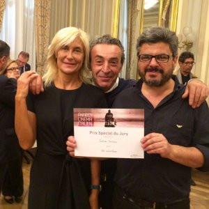 Il produttore del film Eleonora Cordaro insieme all'attore protagonista Filippo Luna e al regista Salvo Cuccia.