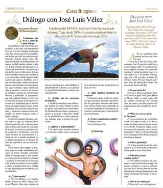 De India a Panamá: Una entrevista con José Luis Vélez