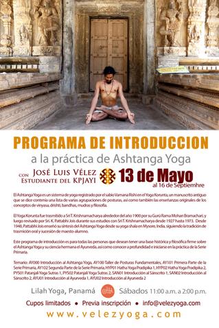 Programa de Introducción al Ashtanga Yoga 2017