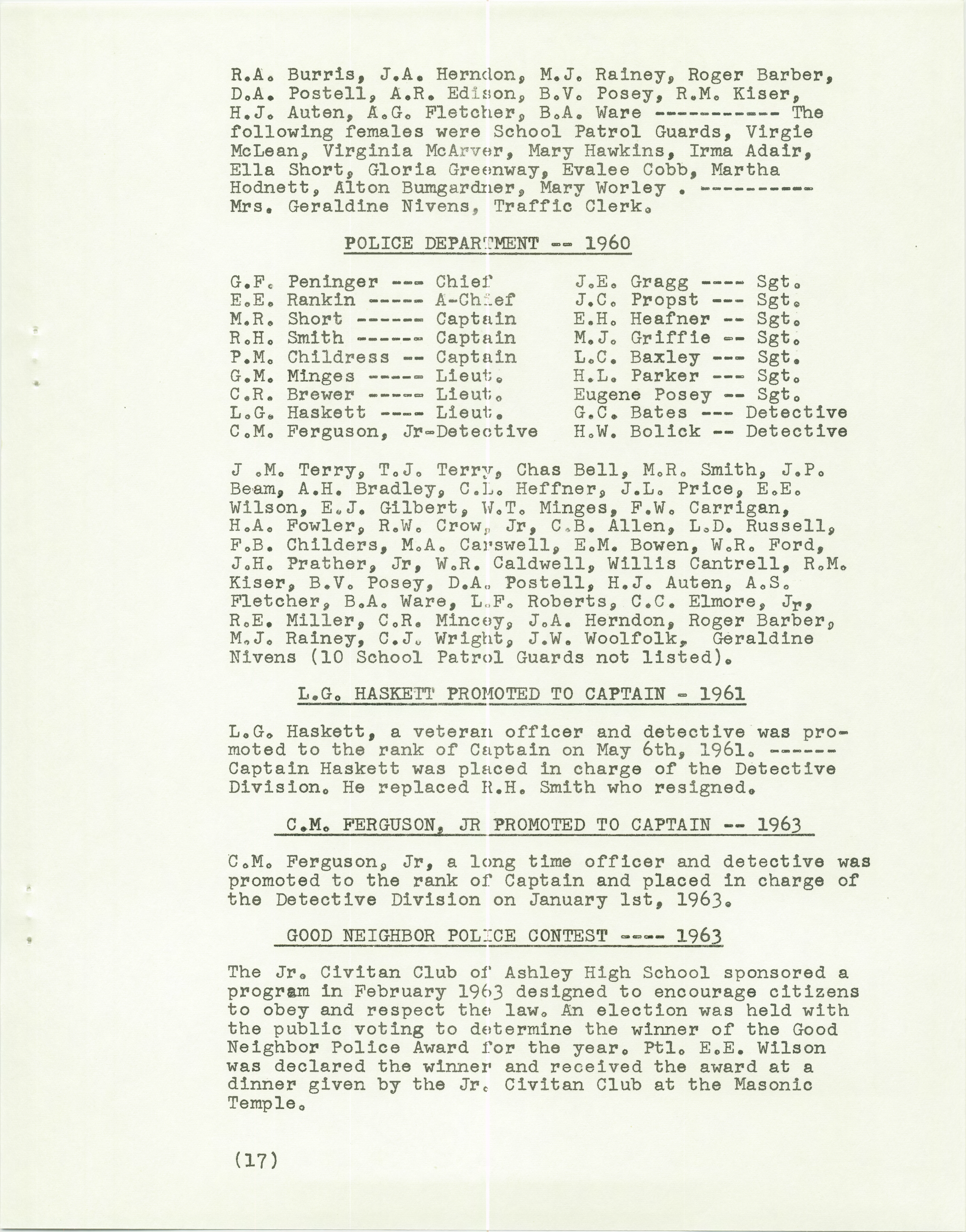 History of the Gastonia Police Department_Page_18