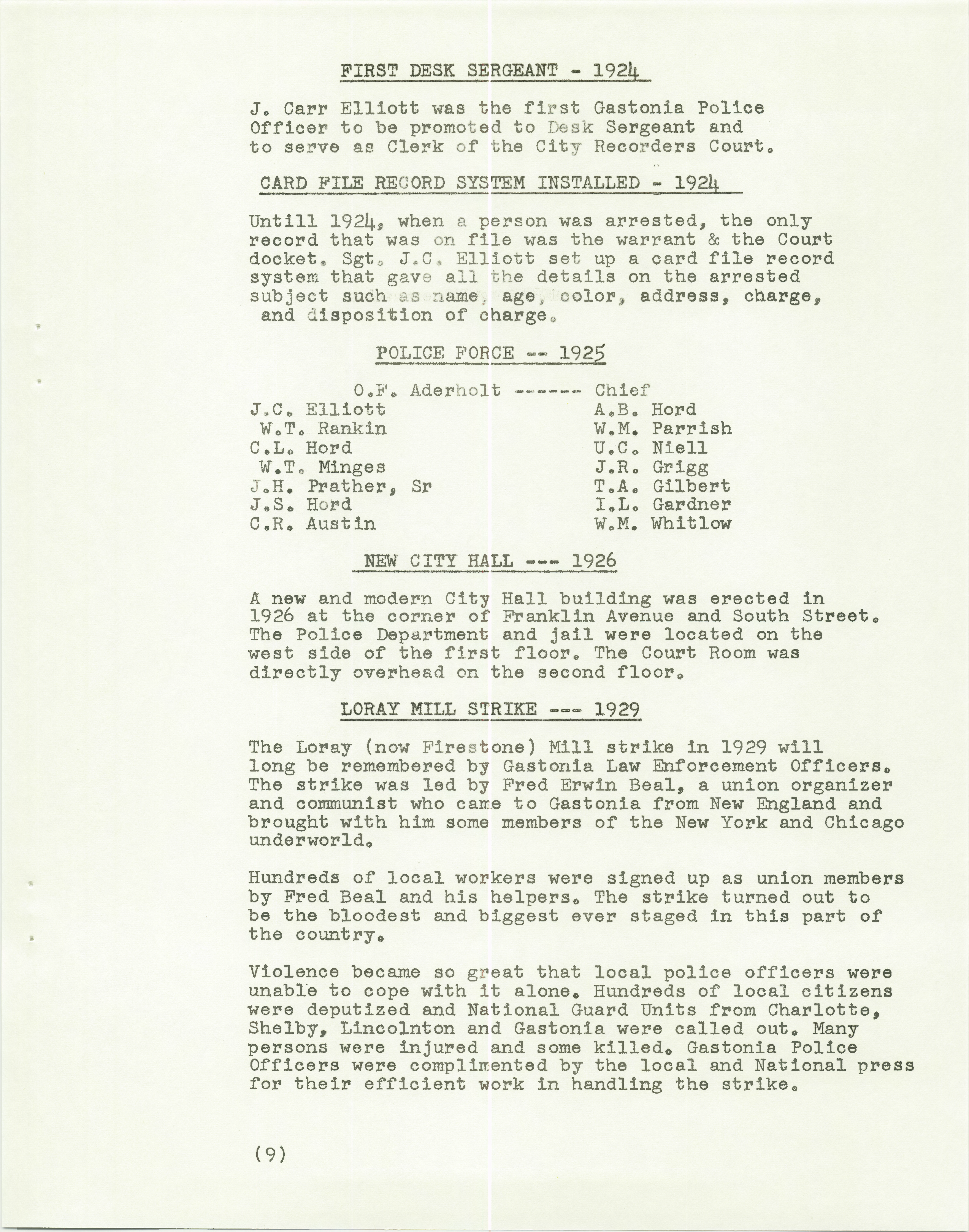 History of the Gastonia Police Department_Page_10